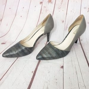 Cole Haan Snake Embroidered pointed toe Heel 10.5B